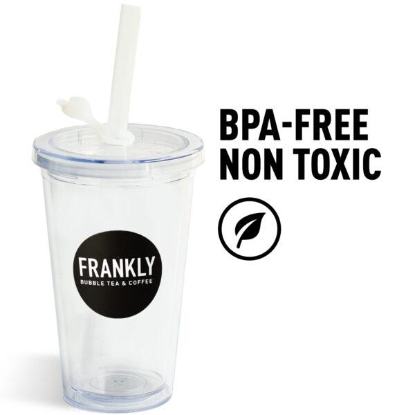 Bicchiere per Bubble Tea Riutilizzabile_BPA-Free non toxic